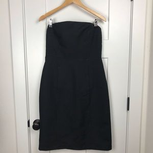 J. Crew 10 cotton black strapless formal dress